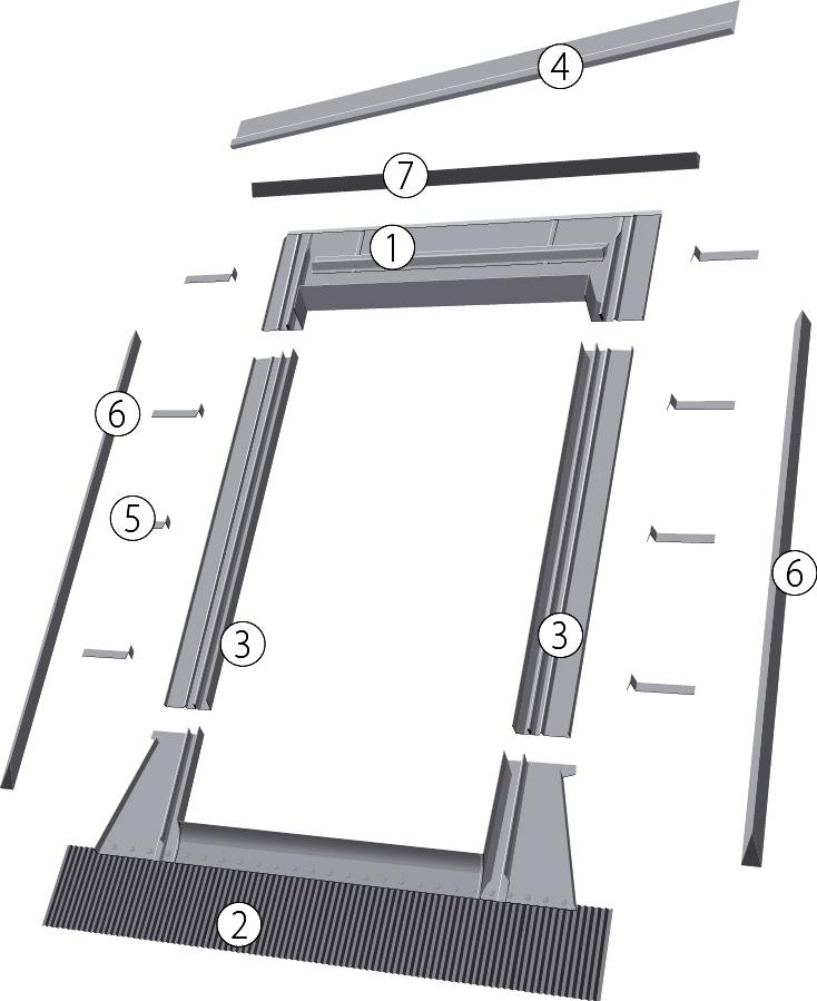 Оклад ESW (для окна-выхода на крышу) - 1