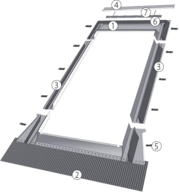 Оклад  EZV-P 1 (для мансардного окна) - 1