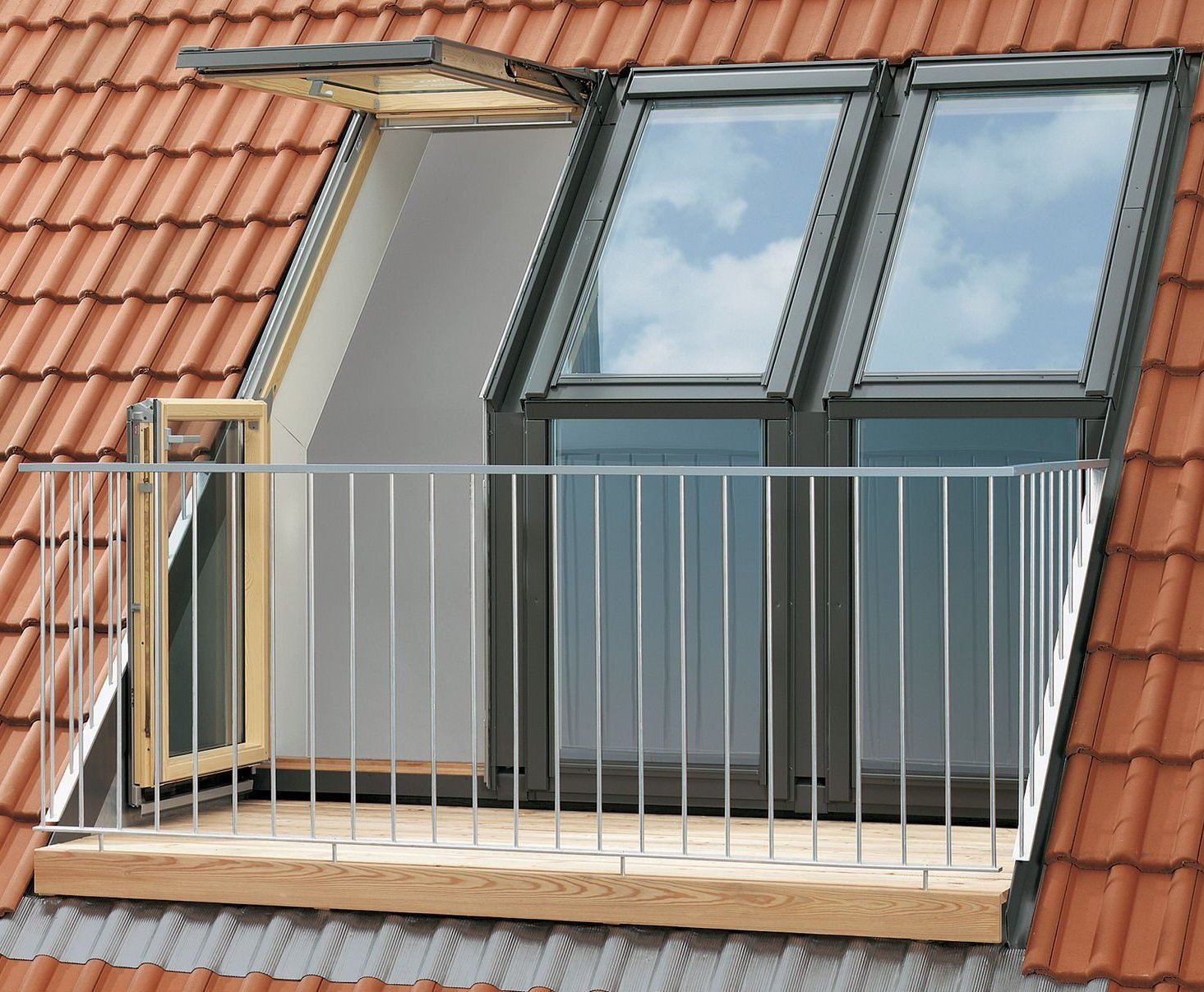 Velux balcony roof window - roof.